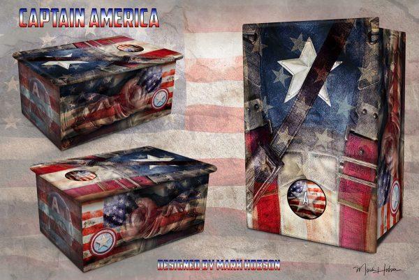 Captain America Cremation Urn