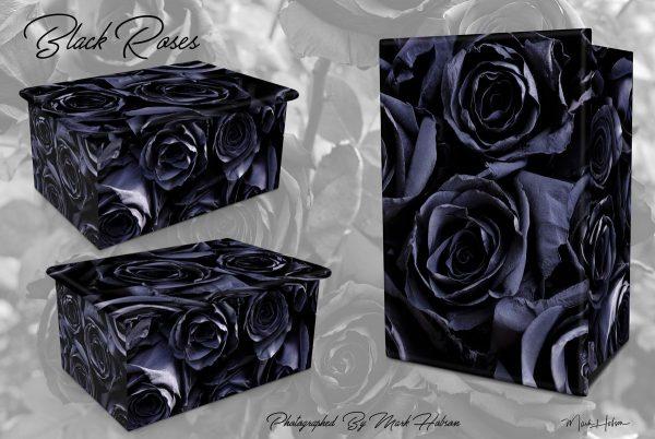 Black Roses Cremation Urn