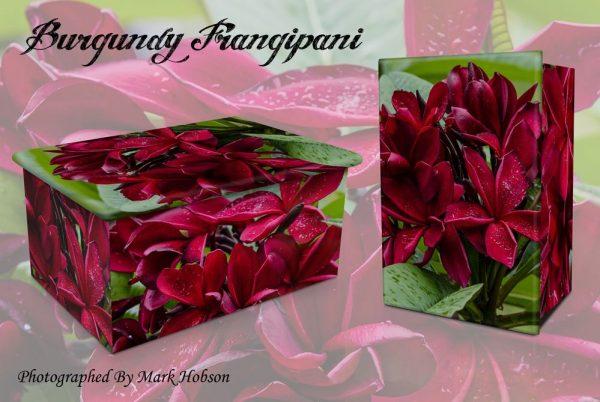 Burgundy Frangipani Cremation Urn
