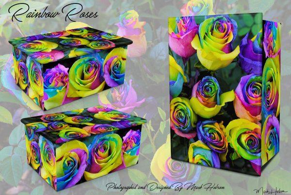 Rainbow Roses Cremation Urn