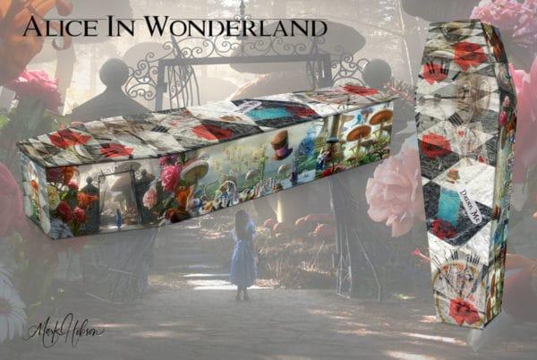 Inspired By Alice In Wonderland Coffin