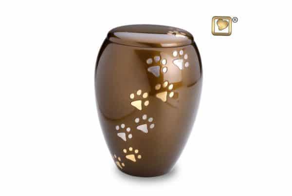 Bronze Flat Lid Cremation Urn