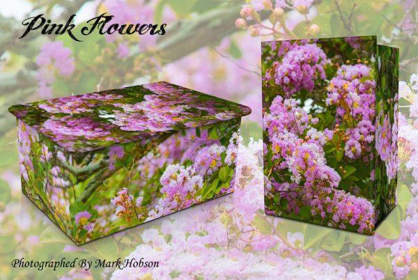 Pink Flowers Cremation Urn