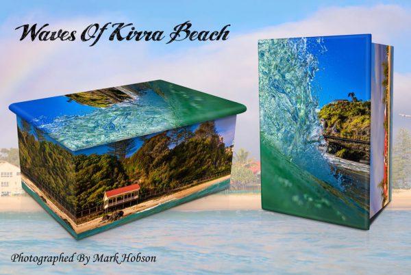 Waves Of Kirra Beach Cremation Urn