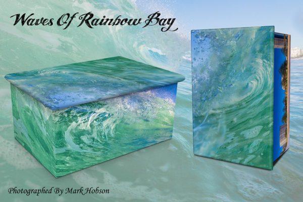Waves Of Rainbow Cremation Urn