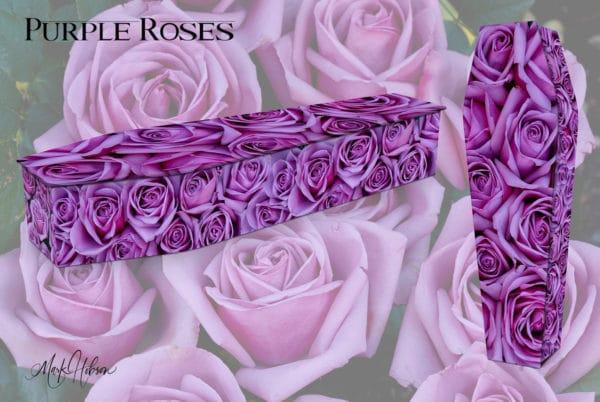 Purple Roses Coffin